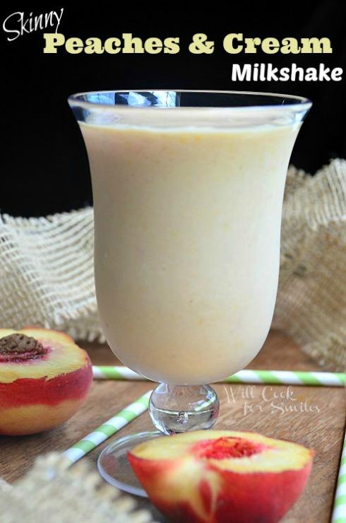 Skinny-Peaches-and-Cream-Milkshake-3-willcookforsmiles.com_