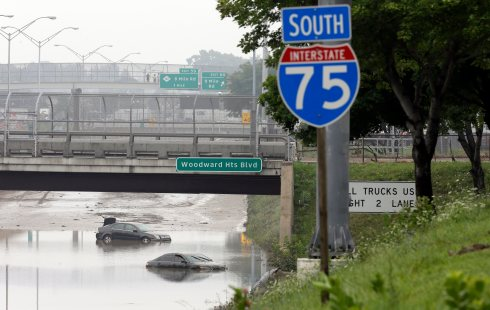 APTOPIX Flooding Michigan